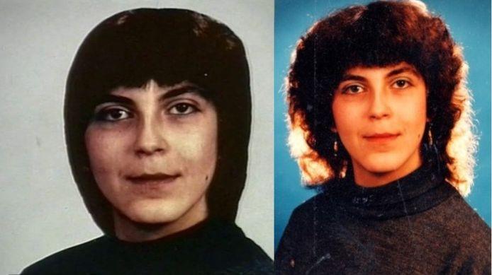Rechts de foto die destijds door de politie werd verspreid van Judit Nyari. Links dezelfde foto, maar dan met een ander kapsel. De politie is op zoek naar betere foto's van de in 1993 vermoorde Nyari.