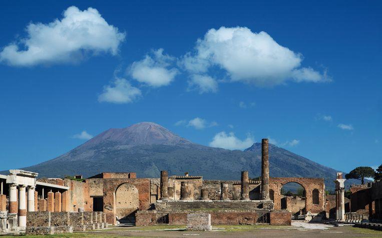 Op de terugreis werd een bezoek aan de gestolde pracht van Pompeï een onvergetelijk hoogtepunt. Beeld Hilde Van Mieghem