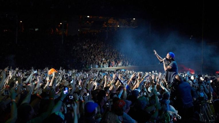 Pearl Jam in Chicago's Wrigley Field Beeld Danny Clinch