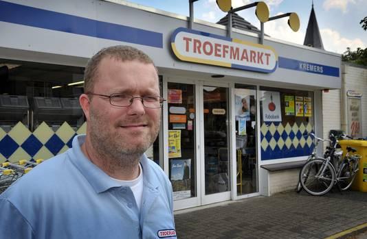 Stefan Kremers, tien jaar geleden voor 'zijn' Troefmarkt, die inmiddels is gesloten.