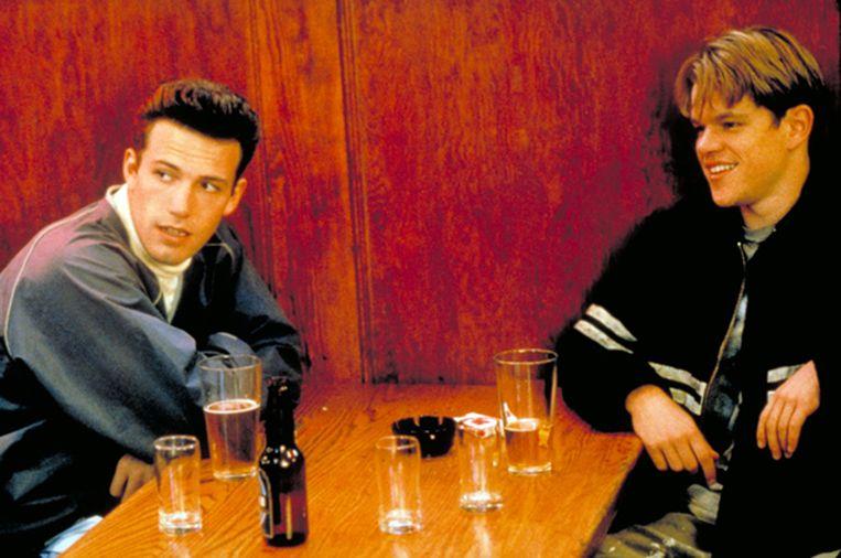 Ben Affleck (links) en Matt Damon in Good Will Hunting. Beeld