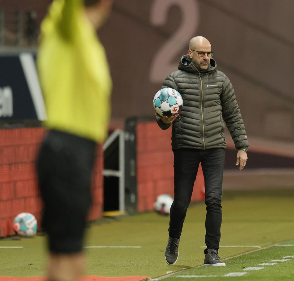 Trainer Peter Bosz van Bayer Leverkusen.