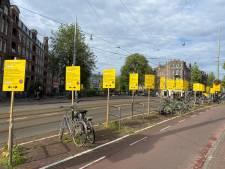 Op elke meter een geel bord? 'Niet mooi, wel duidelijk'