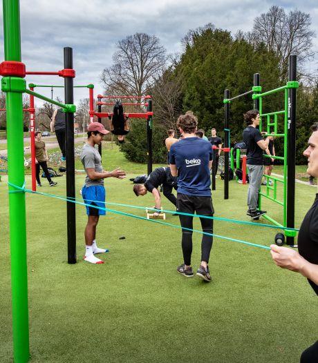 Drukte op fitnesspleintje in Goffertpark is nu wel oké, maar alleen voor jongeren