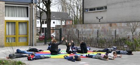 Tilburg toont eensgezinde boodschap vanuit de lucht: samen sterk tegen coronavirus
