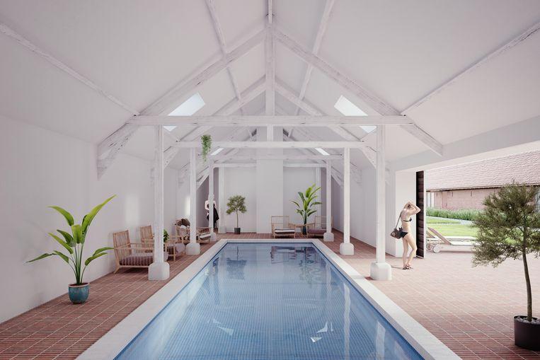 Ook het binnenzwembad oogt bijzonder luxueus.