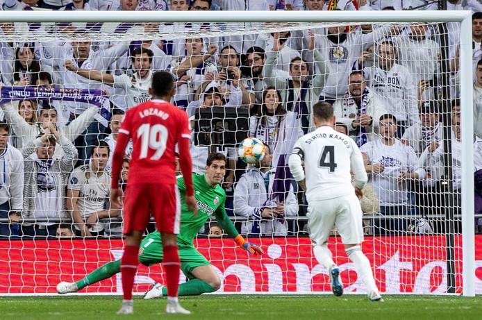 Sergio Ramos scoorde dit seizoen al vijf keer met een Panenka-penalty.