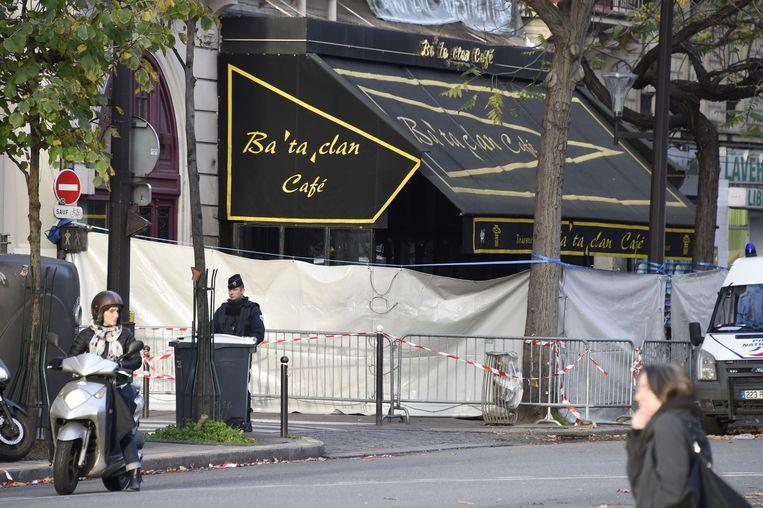 De Parijse concertzaal Bataclan was het middelpunt van de terroristische aanslagen in november 2013. Beeld AFP