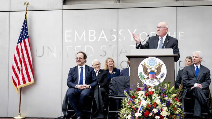 De Amerikaanse ambassade is vandaag officieel geopend.