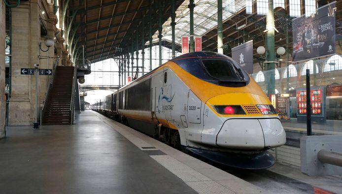Un train Eurostar à la gare du Nord de Paris.