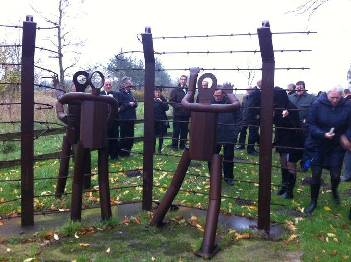 Puttenaren brengen jaarlijks een bezoek aan Ladelund, waar een monument staat op de plek waar in 1944 het werkkamp was.
