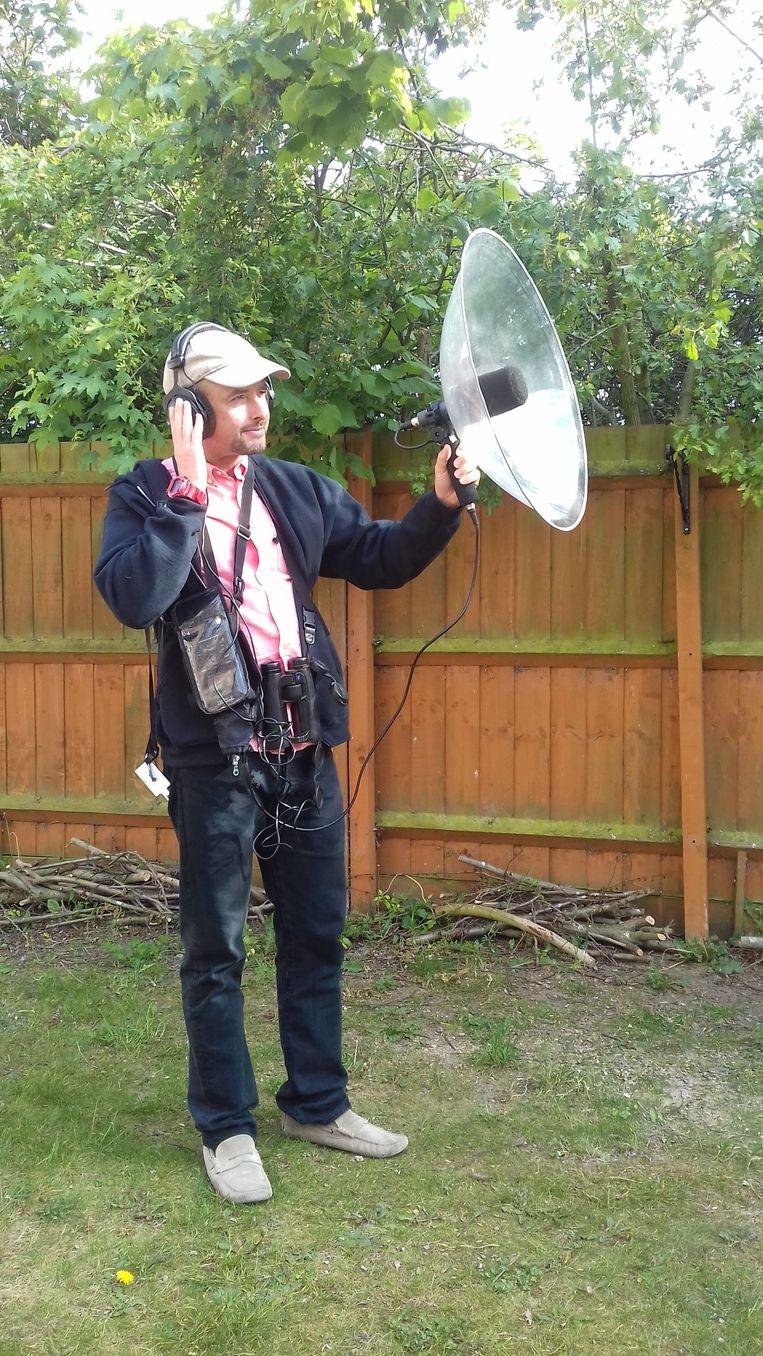 David Darell-Lambert, vogelspotter. Beeld Patrick van IJzendoorn
