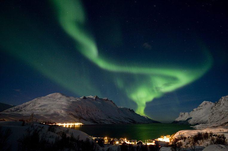 Poollicht boven Noorwegen (12 februari 2011). © EPA Beeld