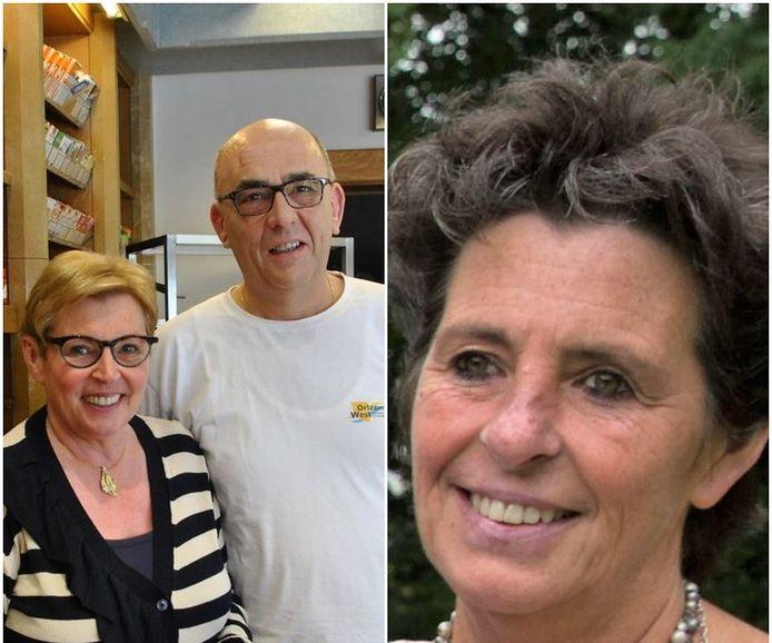 Links zien we Marleen Vanmarcke, samen met haar man Geert Alsberghe. Rechts zien we Mireille, de zus van Marleen Vanmarcke
