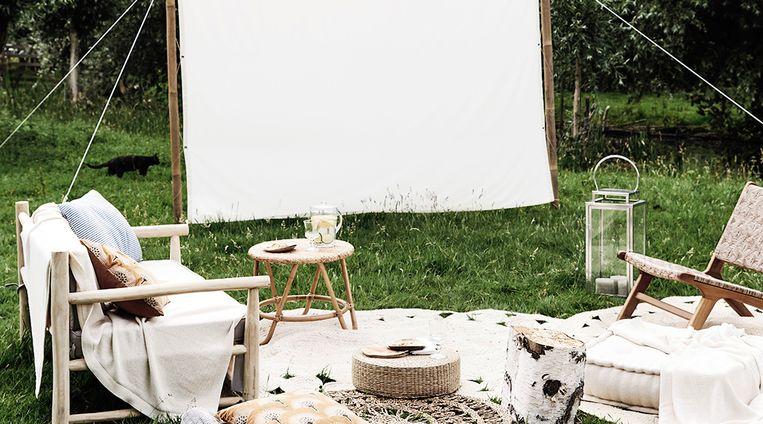 Perfect voor de Indian Summer: een eigen buiten-bioscoop