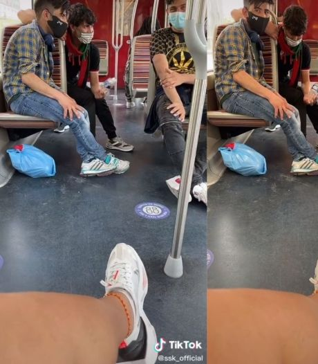 """""""Il y a un problème?"""": une jeune femme filme ceux qui la fixent dans le métro"""
