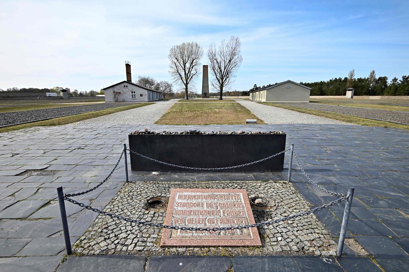 Een gedenksteen voor de slachtoffers in het voormalige concentratiekamp Sachsenhausen bij Oranienburg, zo'n 30 kilometer ten noorden van Berlijn.