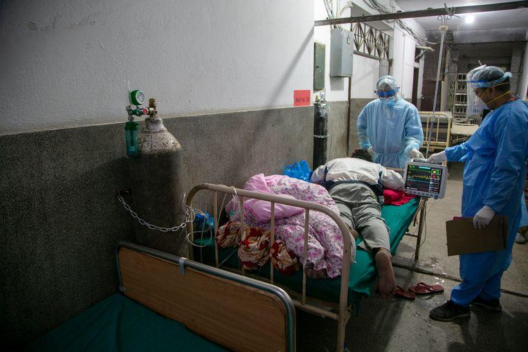 Een ziekenhuis in Nepal. Beeld AP