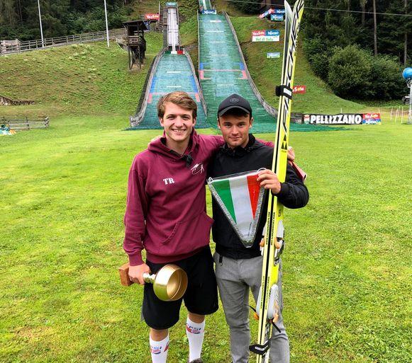 Jeno (rechts) met zijn trainer Daniël.
