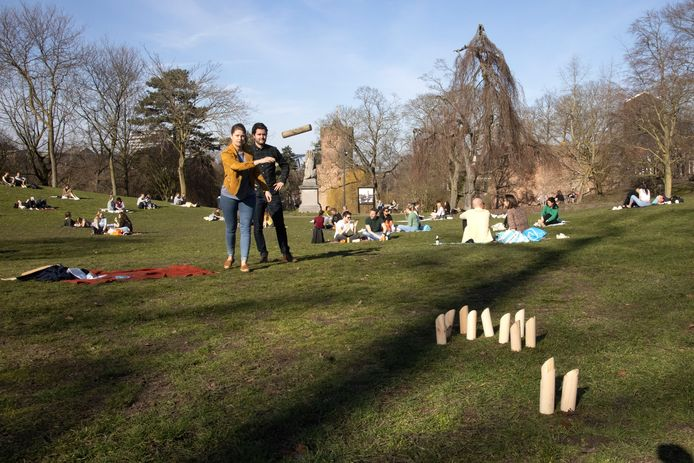 Potje kubb in het Kronenburgerpark.
