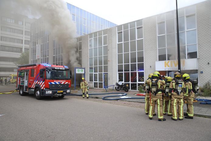 Grote brand in pand aan Steenplaetsstraat in Rijswijk.