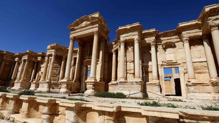 Islamitische Staat ging aan de haal met heel wat antiquiteiten uit de historische stad Palmyra. Beeld AFP