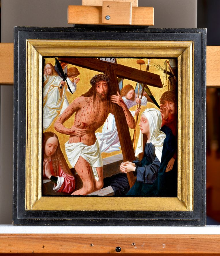 Artefacts Museum 12-16 Century. Christus als man van smarten_ Geertgen tot Sint Jans. Collectie Museum Catharijneconvent. Beeld Marco Sweering
