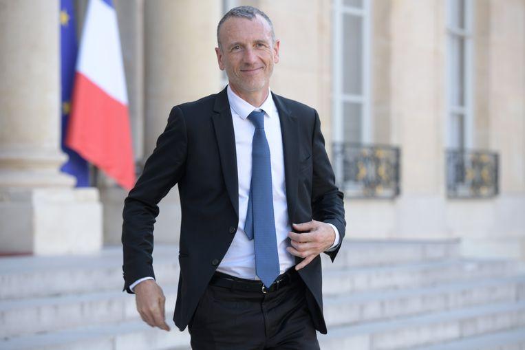 Danone-topman Emmanuel Faber aan het Elysée. Beeld Photo News