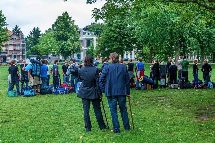Ontgroening bij het studentencorps in Utrecht.