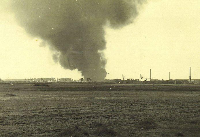 Een beeld van de slag om Zelzate.
