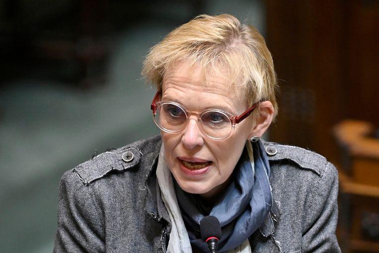 Minister voor Armoedebestrijding Karine Lalieux (PS). Beeld Photo News
