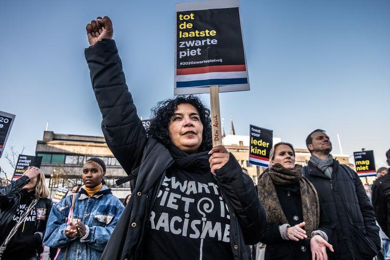 Kick Out Zwarte Piet vorig jaar in Eindhoven. Beeld Joris Van Gennip