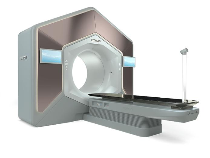 De nieuwe bestralingsapparatuur die Instituut Verbeeten gaat gebruiken bestaat niet meer uit losse bewegende delen, maar uit een geheel.