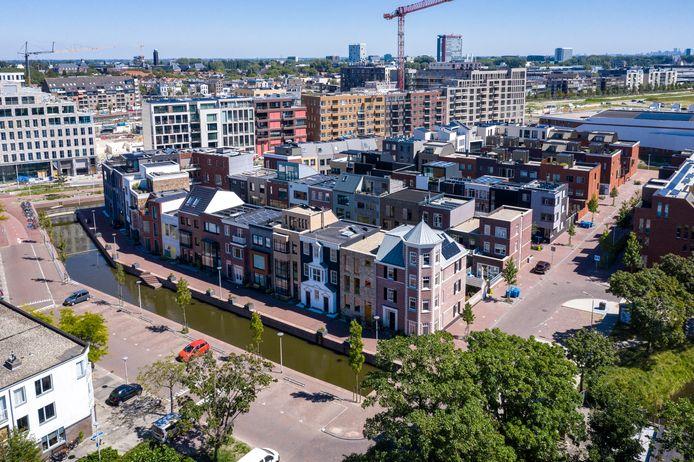Luchtbeeld  De Delftse Coendersbuurt vanuit de lucht.