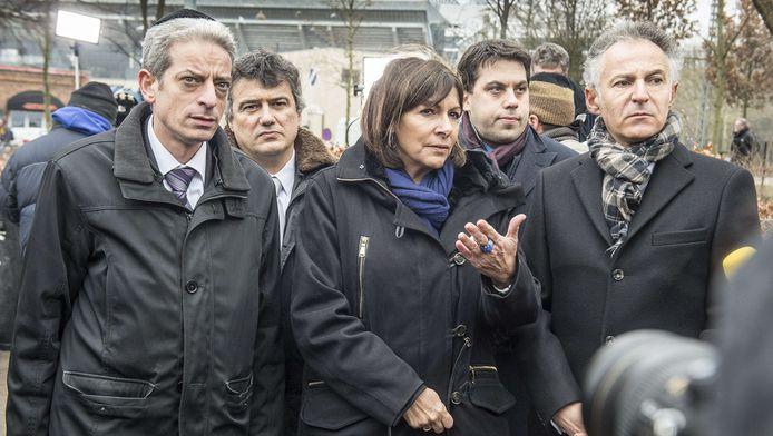 Le rabbin Moché Lewin (à gauche) (Paris, février 2015)