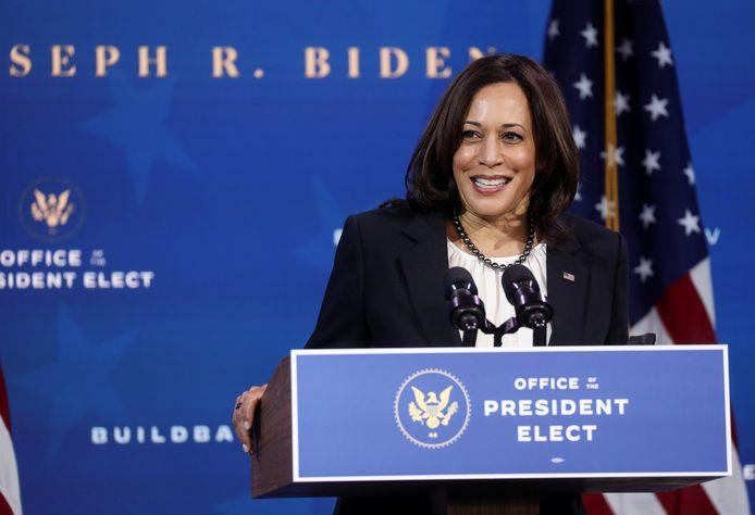 De aankomende Amerikaanse vicepresident Kamala Harris (56).