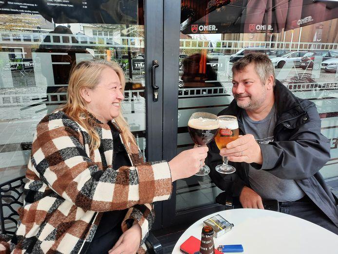 Kathy Viaene en Lieven Libeert in Funkafee genoten met volle teugen.