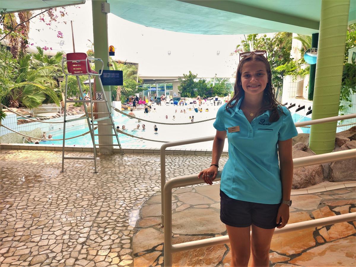 De Belgische Faith Loose (19) redde vorige week zaterdag een 4-jarig jongetje in het subtropische zwemparadijs Aquafun in Oostduinkerke.