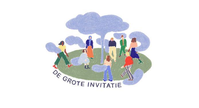 De affiche van het participatieproject De Grote Invitatie