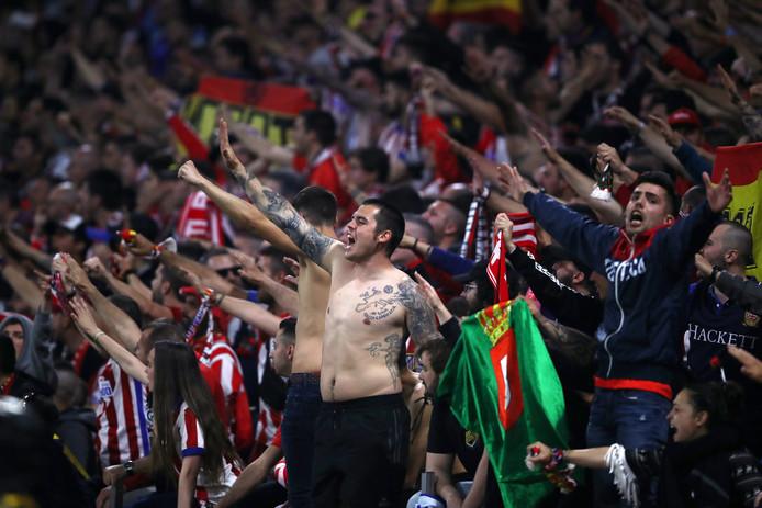 Fans van Atletico Madrid.