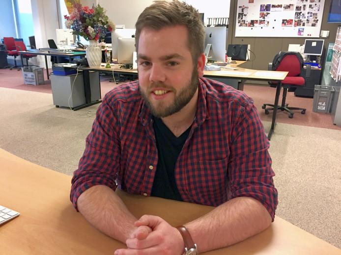 Rick Kraus uit Renkum, winnaar van de schrijfwedstrijd voor het jubileumboek 'Elke dag Vitesse'.