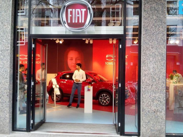 De pop-upstore van Fiat aan het Vredenburg.