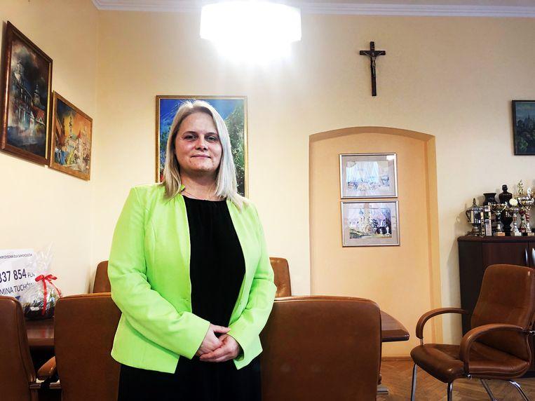 Burgemeester Magdalena Marszalek: 'Ik ben het er dus echt niet mee eens.' Beeld AD