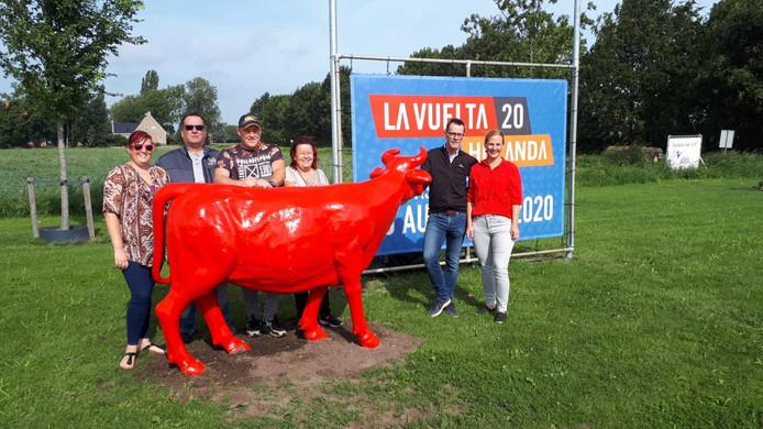 De rode koe van de Vuelta