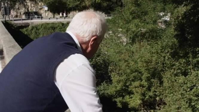 """Patrick Lefevere bezoekt muurtje waarover Evenepoel viel: """"Remco mag blij zijn dat hij nog leeft"""""""