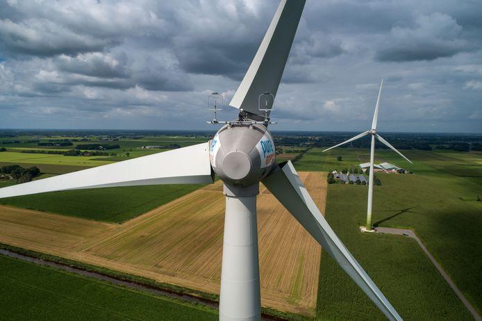 Windturbines ter illustratie.