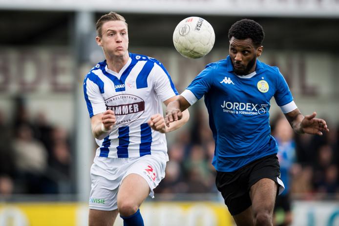 Marlon Versteeg maakte negen doelpunten dit seizoen voor FC Lienden.