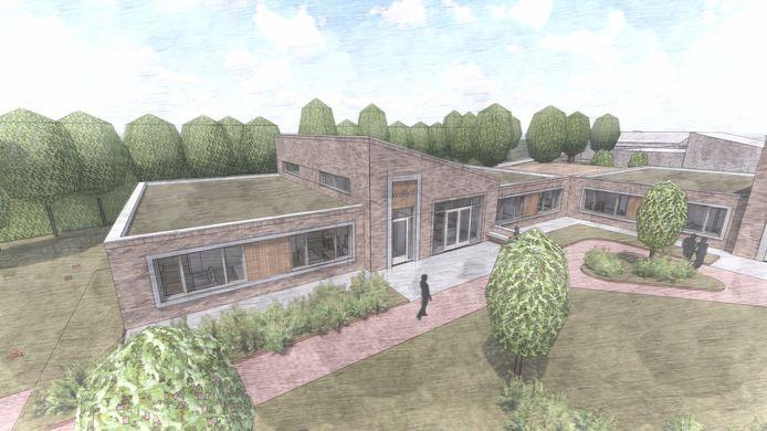 Impressie van hoe de woongebouwen in het nieuwe grootschalige complex in Goes eruit gaan zien.