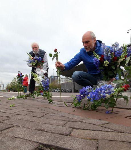 Sobere herdenking April-meistakingen in Hengelo, vlakbij de plek waar het verzet begon