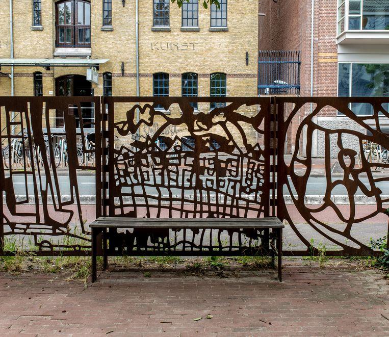 Het hek in de Zeeheldenbuurt is gebaseerd op de vraag: wat zie je op weg naar school? Beeld Nosh Neneh